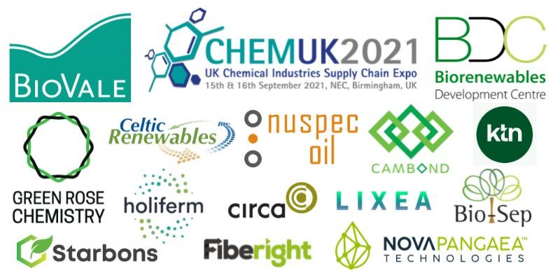 ChemUK 2021 Biovale Showcase Logos